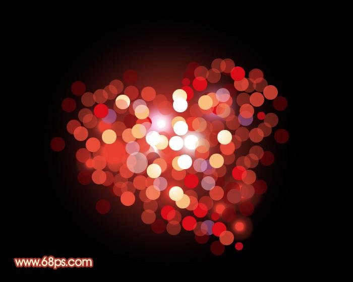 photoshop打造一颗小圆点构成的彩色心形 入门与实例