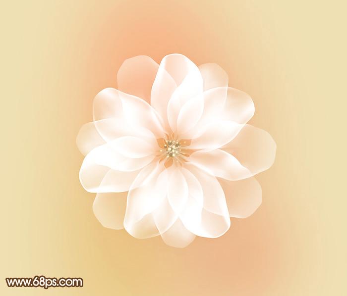 photosho制作非常梦幻的白色高光花朵 入门与实例 基础教学