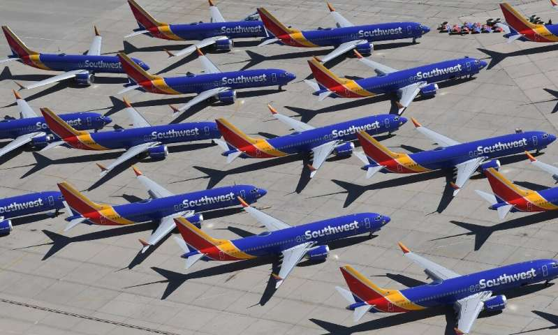 Boeing delivered just 63 commercial planes compared to 190 a year ago, due to the grounding of its topselling 737 MAX which cont