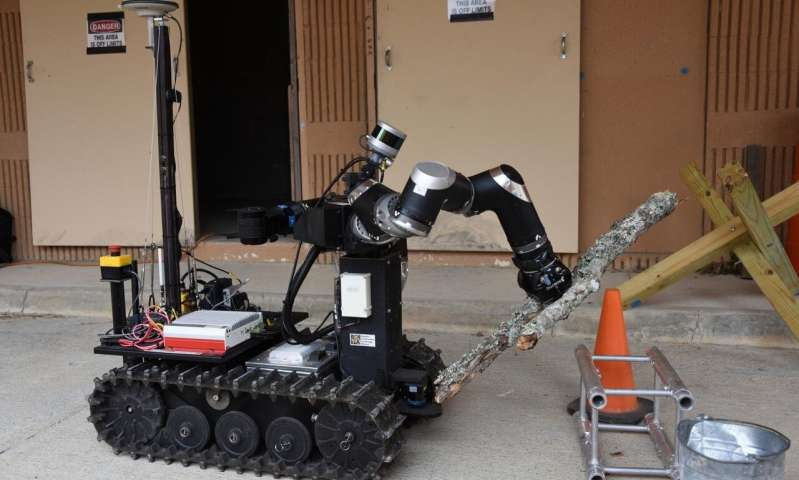 Military drills for robots