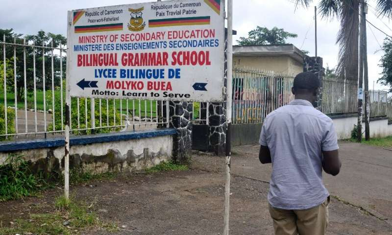 Some bilingual schools in the Anglophone region have been closed by a shutdown protest by separatist insurgents